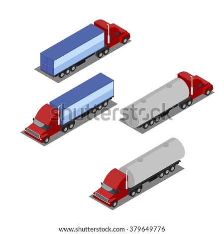 Isometric truck from both sides