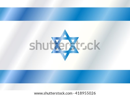 Israel flag background. Israel flag symbol. Icon. Vector illustration.  - stock vector