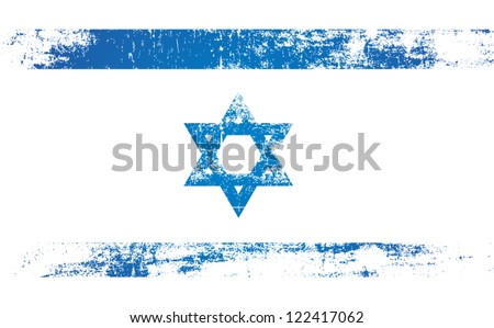israel flag with grunge style - stock vector