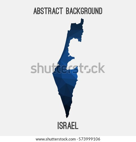 Israel in geometric polygonal style.Abstract tessellation,modern design background. Vector illustration