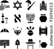 Israel pictograms - stock photo