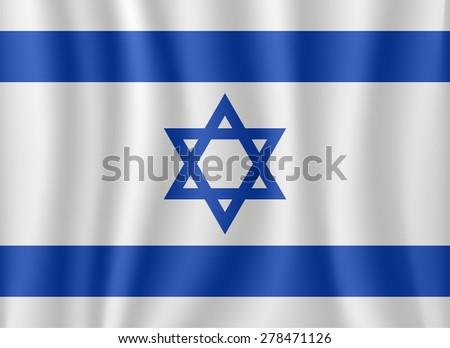 Israel waving flag - stock vector