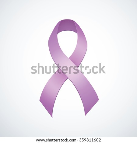 Issue logo loop symbolic concept problem of epilepsy, eating concern, craniofacial, esophageal, pulmonary hypertension, all kinds of tumors. Global icon bow light lilac color emblem isolated on white - stock vector