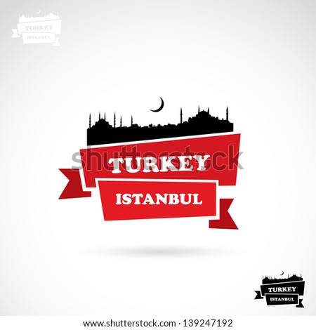 Istanbul banner - vector illustration - stock vector