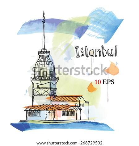 Istanbul. Turkey - stock vector