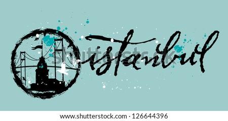 istanbul vector art - stock vector