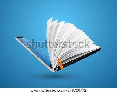 IT Communication - knowledge base, e-learning, e-book - stock vector