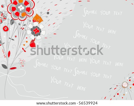 It is a congratulatory card with flowers