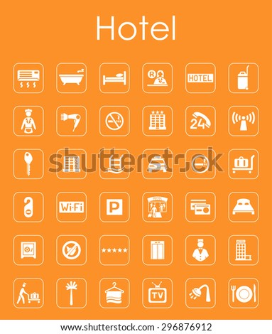 It is a set of hotel simple web icons - stock vector