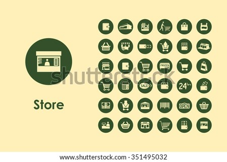 It is a set of sale simple web icons