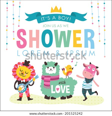 It's a Boy! Baby Shower - stock vector