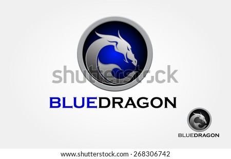 it's a tribal dragon logo, it's look modern and simple style. - stock vector