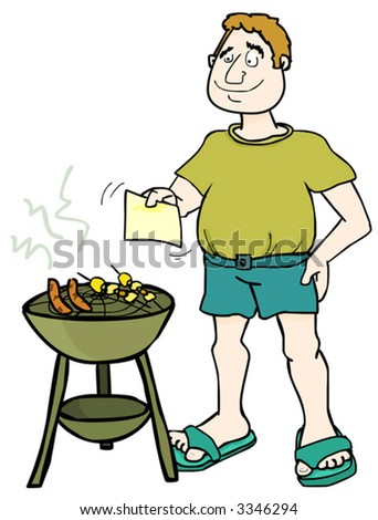 It's Barbecue Time! (Vector) - stock vector