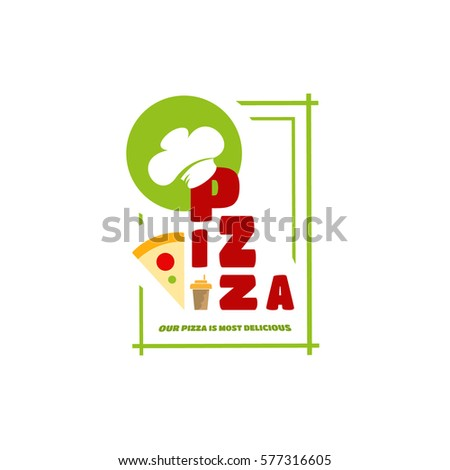Italian Cafe Symbol Text Wearing Chef Stock Vector 577316605