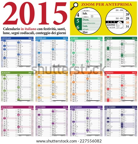 public holidays, lunar phases and zodiacal signs - stock ...