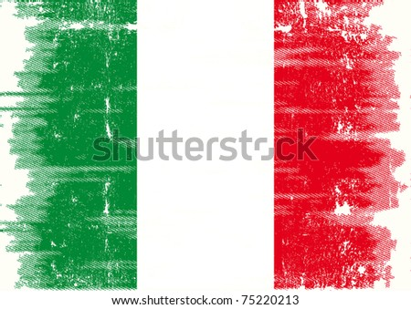 Italian grunge flag Flag of Italy with a texture for you. - stock vector