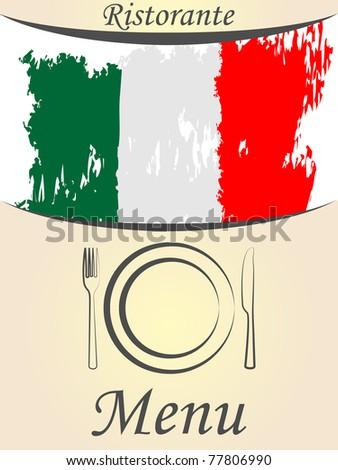 italian menu card - stock vector