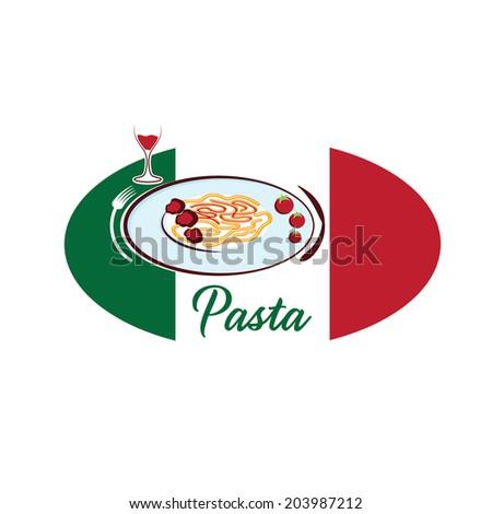 italian pasta - stock vector