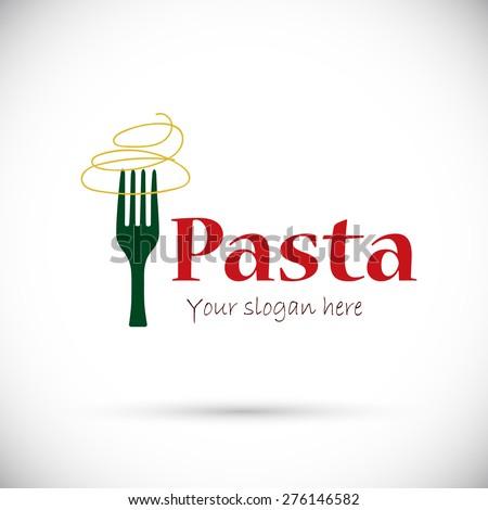 Italian pasta. Vector logo - stock vector
