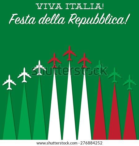 Italian Republic Day card in vector format. - stock vector