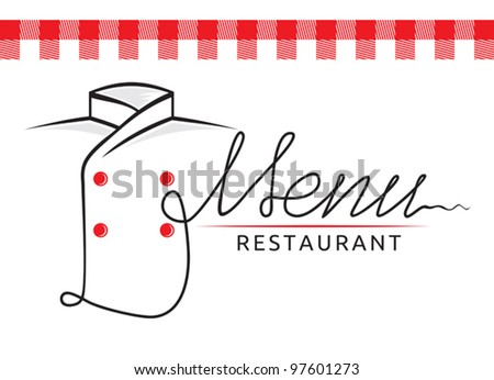 Italian restaurant menu - stock vector