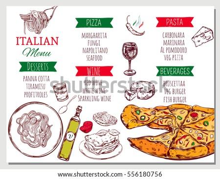 Italian menu stock images royalty free images vectors - Italian cuisine menu list ...