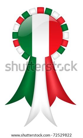 Italian Ribbon (with gradient mesh) - stock vector