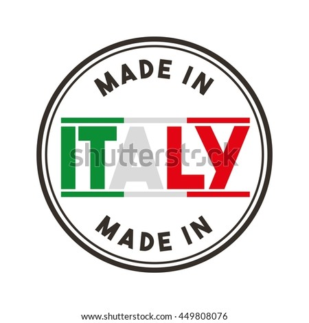 Italy culture concept represented by flag and seal stamp icon. Isolated and flat illustration.