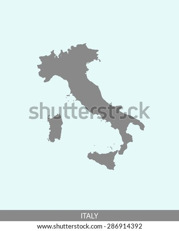 Italy map vector, Italy map outlines in a contrasted background for brochure design and publication uses - stock vector