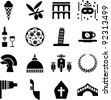 Italy pictograms - stock vector