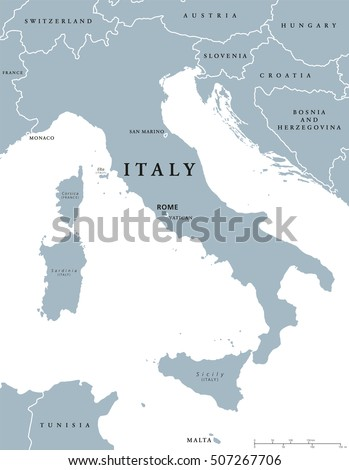 Italy Map Hand Drawn Map Italy Stock Vector Shutterstock - Italy capital map