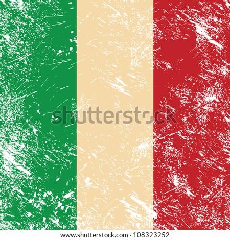 Italy retro flag - stock vector