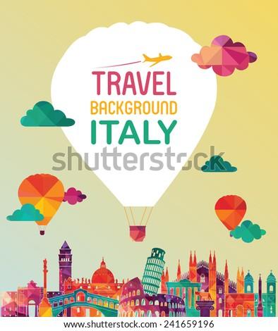 Italy skyline. Vector illustration - stock vector