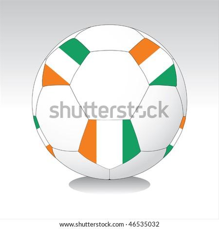 Ivory Coast soccer ball vector - stock vector
