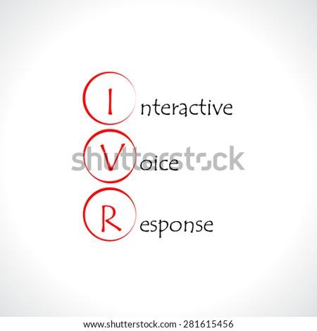 IVR, Interactive voice response - stock vector