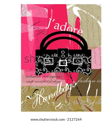 J'adore series  - handbags - stock vector