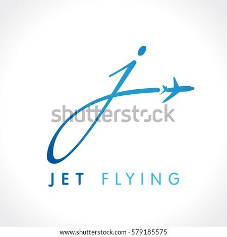 J Letter Jet Travel Company Logo Stock Vector 579185575 Shutterstock