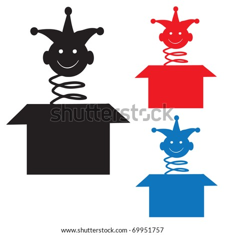 Jack in the box silhouette - stock vector