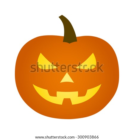 Jack-o'-lantern / jack-o-lantern Halloween carved pumpkin icon for apps and websites - stock vector