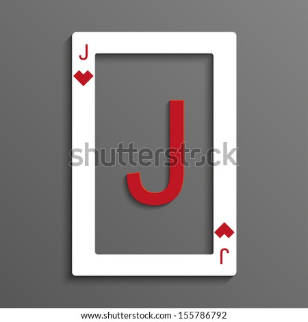 Jack of hearts playing card - stock vector