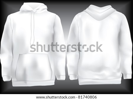 White Hoodie Template Stock Photos, Royalty-Free Images & Vectors