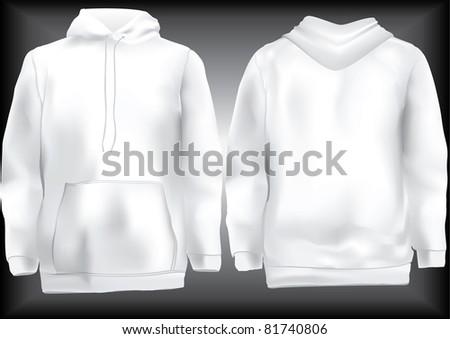 Jacket or sweatshirt  or hoodie template - stock vector