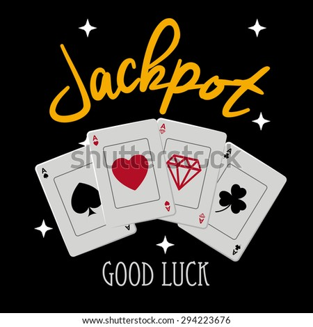 Jackpot digital design, vector illustration eps 10