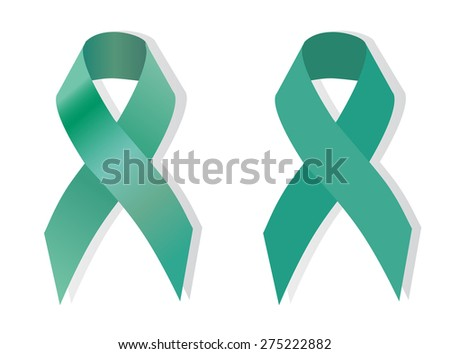 Jade Ribbon Campaign awareness about hepatitis B and liver cancer - stock vector