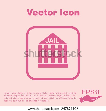 jail prison icon. symbol of justice . police icon