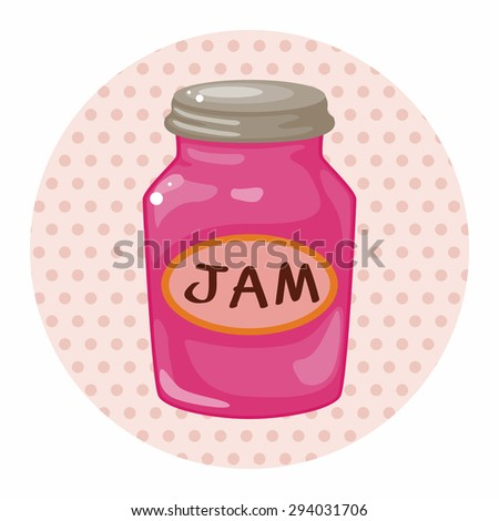 jam theme elements - stock vector