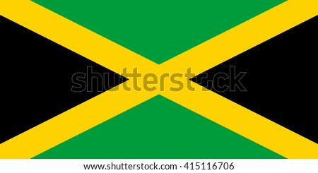 Jamaica flag, official colors and proportion correctly. National Jamaica flag. Jamaica flag vector. Jamaica flag correct. Jamaica flag drawing. Jamaica flag JPG. Jamaica flag JPEG. Jamaica flag EPS. - stock vector