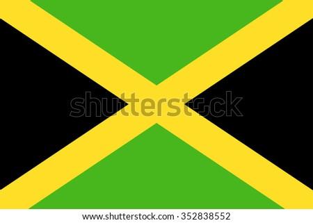 Jamaica Flag - Vector Illustration Vector Illustration of Jamaica Flag Icon  - stock vector