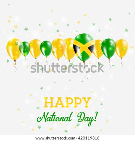 Jamaica Independence Day Sparkling Patriotic Poster Vector de ...