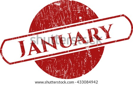 January rubber grunge texture seal